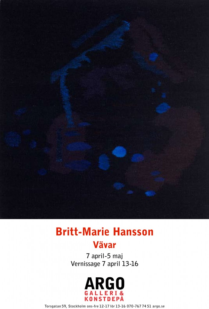 Britt-Marie Hansson Vernissagekort copy